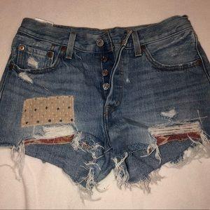 501 levi's vintage jean shorts